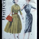 Vintage Butterick 7890 Wiggle or Full Skirt Dress Pattern Johnny Collar Size 12