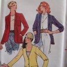 Vintage 70s Butterick 6547 Shaped Hem Jacket Pattern Uncut Size 14 Shawl Cardigan Notched Collar