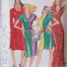 Retro 80s Butterick 3184 V-Neck Maxi or Mini Dress Pattern Uncut Size Medium