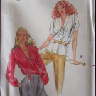 Butterick 3294 V-Neck Blouse Pattern Uncut Size 12 Short or Long Sleeve