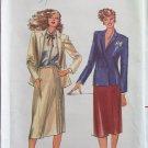 Butterick 6977 Double Breasted Jacket Side Wrap Skirt Pattern Uncut Size 12