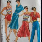 Vintage 70s Butterick 3160 Camisole Top Pointed Collar Blouse Skirt Pants Pattern Uncut