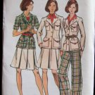 Vintage Butterick 3582 Safari Jacket A-Line Skirt Straight Leg Pants Pattern Uncut Size 12