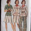 Vintage Butterick 3582 Safari Jacket A-Line Skirt Straight Leg Pants Pattern Uncut Size 12