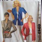 Retro 80s McCalls 6943 Notched Collar Blazer Jacket Pattern Uncut Size 12