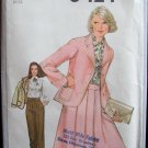 Vintage 70s Simplicity 8424 Jacket Skirt Blouse and Pants Pattern Uncut Size 14