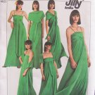 Vintage 70s Simplicity 8086  Jiffy Knit Multi Wrap Evening Maxi Dress Pattern 15 Styles Uncut