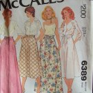 Vintage 70s McCall's 6389 Evening Length or Knee Skirt Pattern Uncut Size 12