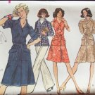Vintage 70s Vogue 8766 Front Button Tunic Dress and Pants Pattern Uncut Size 14