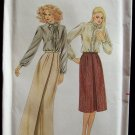 Vintage Butterick 3322 Evening Length A-Line Skirt Pattern Inverted Pleat Uncut Size 10