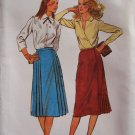 Vintage 70s Butterick 6919 Straight Skirt With Side Pleat Pattern Uncut Size 8
