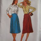 Vintage Butterick  6919 Side Pleat Straight Skirt Pattern Uncut Size 10