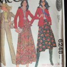 Vintage McCall's  6248 Pleated Skirt Shawl Collar Blazer and Pants Pattern Uncut Size 12