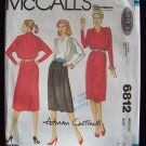 Vintage 70s McCall's 6812 Adrian Cartmell V-Neck Yoke Pleated Dress Pattern Uncut Size12
