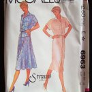 Retro 80s McCall's 6963 Strauss by Bonnie Shirt Dress Top and Skirt Pattern Uncut Size 12