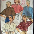 Vintage 70s Quick Butterick 6252 Dolman Sleeve Banded or Pointed Collar Blosue Pattern Uncut