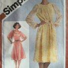 Vintage 80s Simplicity 9866 Raglan Sleeve Rounded Yoke Dress Pattern Uncut Size 12