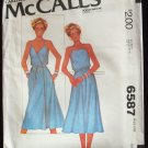 Vintage 70s McCall's 6587 Ma Chemise Front Wrap Sundress Pattern Uncut Size Small