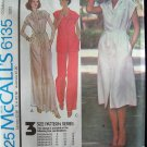 Vintage 70s McCall's 6135 Halston Evening Length Dress or Top and Pants Pattern Uncut Size 10-14