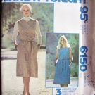 Vintage McCall's 6150 Dress or Jumper Sewing Pattern Sleeveless Yoke Front Uncut Size 10-14
