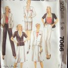 Vintage 80s McCall's 7066 Carole Little Saint Tropez Jacket Wrap Skirt Pants or Shorts Pattern