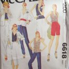 Vintage 70s McCall's 6618 Summer Jacket Top Skirt Pants or Shorts Pattern Uncut Size 12