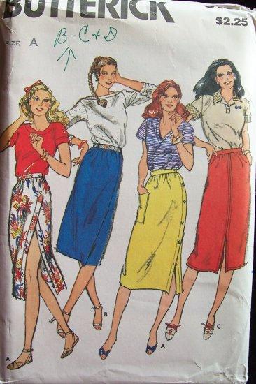 Vintage Butterick 3164 A-Line Skirt Sewing Pattern Uncut Size 8-12