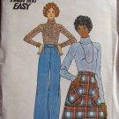 Vintage 70's Butterick 4441 A-Line Skirt Wide Straight Leg Pants Sewing Pattern Uncut Size 8