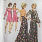 Vintage 70s Simplicity 5561 Halter Evening Dress and Jacket Pattern Uncut Size 12