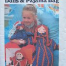 Vintage 70's Butterick 5112 Doll and Pajama Bag and Embroidery Pattern Uncut