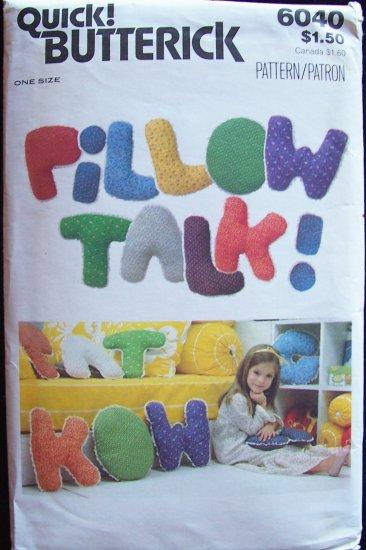 Vintage Quick Butterick 6060 Stuffed Letter Alphabet Pillow Pattern Uncut