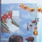 Vintage Butterick 6854 Big Red Barn Farm Scene Baby Crib Set Uncut Mobile Crib Bumper Wall Hanging