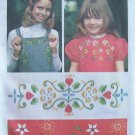 Vintage 70's Simplicity 6487 Floral Embroidery Transfer Pattern Uncut
