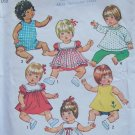 "Vintage 70's Simplicity 5947 Baby Doll Wardrobe Sewing Pattern Uncut Size 12"" to 13"""