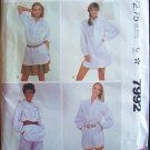 Vintage 80s McCalls 7992 Long Sleeve Pullover Tunic Top Pattern Uncut Size Large 18-20