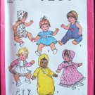 Vintage Simplicity 7208 Small Baby Doll Clothing Wardrobe Pattern Uncut