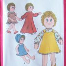 Vintage 70s Simplicity 8694 Stuffed Doll and Clothes Sewing Pattern Uncut