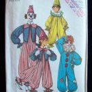 Vintage 70's Simplicity 7162 Child's Clown Costume Sewing Pattern Uncut Size 6-8