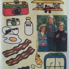 Vintage 70's Simplicity 7147 Embroidery Transfer Pattern Airplane Food Bowling 21 Designs