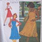 Vintage 70s Simplicity 6926 Jumper Sun Dress Pattern Uncut Size 8