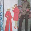 Vintage 70s McCall's 4732 Chinese Button jacket or Housecoat Sewing Pattern Uncut Size 6-8