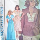 Vintage 70s McCall's 4821 Bell Sleeve Maxi Dress Top Pattern Uncut Size 8