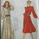 Vintage Vogue 7765 Front Button Evening Dress Pattern Blouson Side Pockets Uncut Size 12