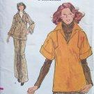 Vintage Vogue 8716 Kimono Sleeve Top Straight Leg Pants Pattern Uncut Size 8
