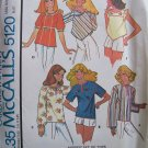 Vintage 70s McCall's 5120 Pullover Boho Tops and Embroidery Transfer Pattern Uncut Size 6-8
