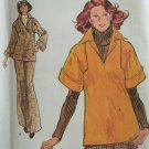 Vintage 70s Vogue 8716 Straight Leg Pants Kimono Sleeve Top Pattern Uncut Size 14