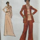 Vintage 70s Vogue 8756 Cardigan Jacket Cowl Neck Top Evening Length A-Line Skirt Pattern Uncut