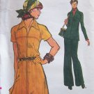 Vintage 70s Vogue 8982 Raglan Sleeve A-Line Dress Tunic Top Pants Pattern Uncut Size 12