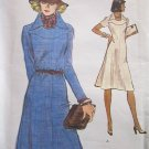 Vintage 70s Vogue 9059 Pointed Collar A-Line Dress Pattern Shaped Yoke Uncut Size 14