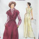 Vintage 70s Vogue 9340 Shawl Collar Evening Dress Pattern Uncut Size 12